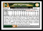 2008 Topps #436  Joe Blanton  Back Thumbnail