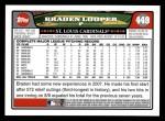 2008 Topps #449  Braden Looper  Back Thumbnail