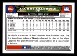 2008 Topps #461  Jacoby Ellsbury  Back Thumbnail