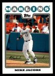 2008 Topps #483  Mike Jacobs  Front Thumbnail