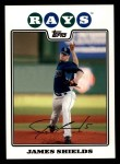 2008 Topps #495  James Shields  Front Thumbnail