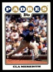 2008 Topps #497  Cla Meredith  Front Thumbnail