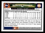 2008 Topps #641  Marcus Thames  Back Thumbnail