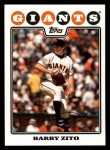 2008 Topps #2  Barry Zito  Front Thumbnail