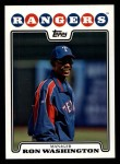 2008 Topps #22  Ron Washington  Front Thumbnail