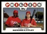 2008 Topps #98  Ryan Howard / Chase Utley  Front Thumbnail