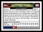 2008 Topps #126  Brandon Jones  Back Thumbnail