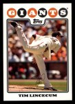 2008 Topps #165  Tim Lincecum  Front Thumbnail