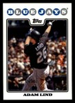 2008 Topps #169  Adam Lind  Front Thumbnail