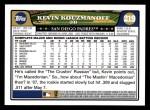 2008 Topps #219  Kevin Kouzmanoff  Back Thumbnail