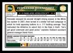 2008 Topps #362  Fernando Hernandez  Back Thumbnail