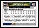 2008 Topps #577  John Buck  Back Thumbnail