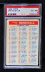 1956 Topps   Checklist - Series 2/4 Front Thumbnail