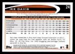 2012 Topps #24  Ike Davis  Back Thumbnail