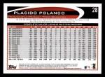 2012 Topps #28  Placido Polanco  Back Thumbnail