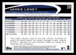 2012 Topps #39  James Loney  Back Thumbnail
