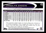 2012 Topps #45  Jhoulys Chacin  Back Thumbnail
