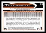 2012 Topps #63  Nate Schierholtz  Back Thumbnail