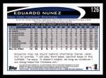 2012 Topps #126  Eduardo Nunez  Back Thumbnail