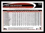 2012 Topps #131  Ian Desmond  Back Thumbnail