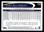 2012 Topps #152  Chad Billingsley  Back Thumbnail