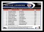 2012 Topps #159   -  Chipper Jones / Albert Pujols / Todd Helton Active NL RBI Leaders Back Thumbnail