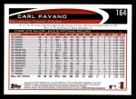 2012 Topps #164  Carl Pavano  Back Thumbnail