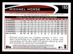 2012 Topps #165  Michael Morse  Back Thumbnail