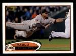 2012 Topps #185  Pablo Sandoval  Front Thumbnail