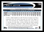 2012 Topps #196  Matt Joyce  Back Thumbnail