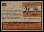 1962 Topps #74  Bob Lillis  Back Thumbnail