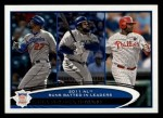 2012 Topps #224   -  Matt Kemp / Prince Fielder / Ryan Howard NL RBI Leaders Front Thumbnail