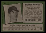 1971 Topps #592  Randy Hundley  Back Thumbnail