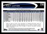 2012 Topps #256  Mat Latos  Back Thumbnail