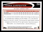 2012 Topps #264   -  Chris Carpenter  Highlights Back Thumbnail