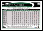 2012 Topps #393  Manny Ramirez  Back Thumbnail