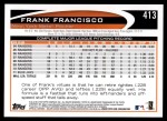 2012 Topps #413  Frank Francisco  Back Thumbnail