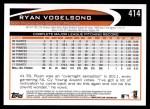 2012 Topps #414  Ryan Vogelsong  Back Thumbnail