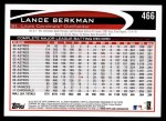 2012 Topps #466  Lance Berkman  Back Thumbnail