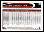 2012 Topps #490  Chris Carpenter  Back Thumbnail
