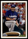 2012 Topps #499  Francisco Rodriguez  Front Thumbnail