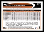 2012 Topps #621  Scott Hairston  Back Thumbnail