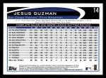 2012 Topps #14  Jesus Guzman  Back Thumbnail