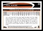 2012 Topps #49  Jon Niese  Back Thumbnail