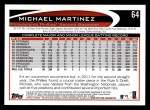 2012 Topps #64  Michael Martinez  Back Thumbnail