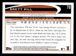 2012 Topps #70  Brett Pill  Back Thumbnail