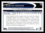 2012 Topps #79  Austin Romine  Back Thumbnail