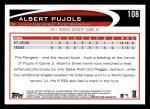 2012 Topps #108   -  Albert Pujols  Highlights Back Thumbnail
