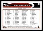 2012 Topps #109   -  Mariano Rivera Record Breaker Back Thumbnail