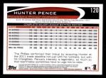 2012 Topps #120  Hunter Pence  Back Thumbnail